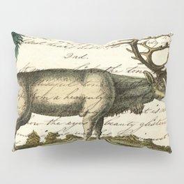 western country primitive christmas mountain animal wildlife winter pine tree elk Pillow Sham
