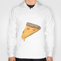 pizza Hoodies featuring Pizza by Indiana-Jonas