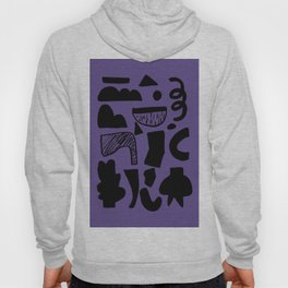 abstract figures on ultra violet background Hoody