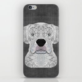 White Boxer iPhone Skin