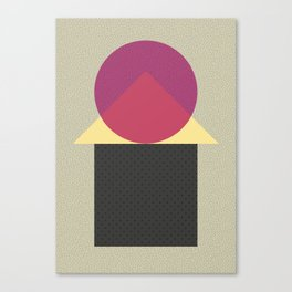 Cirkel is my friend V2 Canvas Print