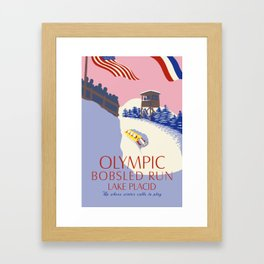 Lake Placid Olympic bobsled run Framed Art Print