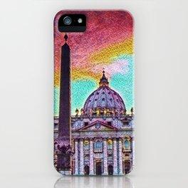 Vatican City Artistic Illustration Crazy Style iPhone Case