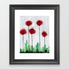 Red Wildflowers Framed Art Print