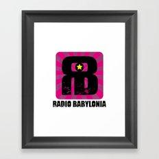 Radio Babylonia Framed Art Print