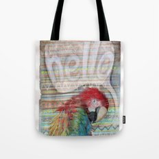 Hello Parrot Tote Bag