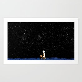 Calvin and Hobbes #3 Art Print