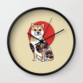 Yakuza Shiba Inu Wall Clock