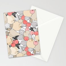 Retro pattern . Fruits and berries . Stationery Cards