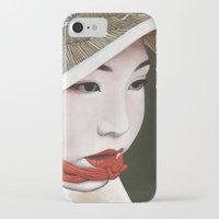 geisha iPhone & iPod Cases featuring Geisha by Andrea Maiorana