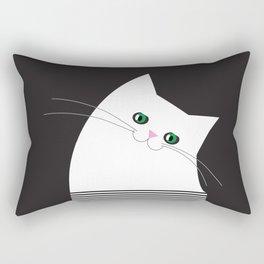 White Cat of Lisa Rectangular Pillow