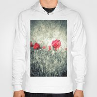 letters Hoodies featuring Poppies & Letters by ARTbyJWP