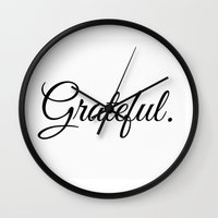 grateful dead Wall Clocks featuring Grateful by I Love Decor