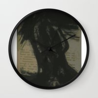 dress Wall Clocks featuring Dress by Tiffany Cooper