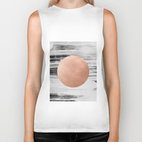 rose gold Biker Tanks featuring rose gold #1 by LEEMO