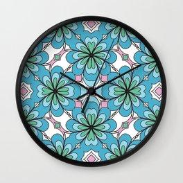 Floral Lattice Wall Clock
