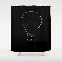 Lightbulb 2 Shower Curtain