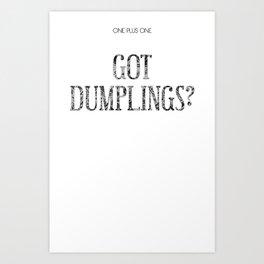 dumplings Art Print