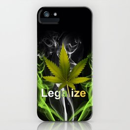 Legalize Marijuana iPhone Case