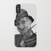 freddy krueger iPhone & iPod Cases featuring Freddy Krueger by axemangraphics