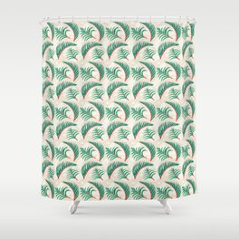 Take me to Paradise Forest Leaves - Cream Shower Curtain