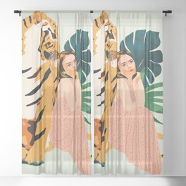 Tiger Spirit Sheer Curtain