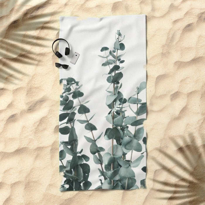 Eucalyptus Leaves Beach Towel