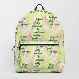 Let food be thy medicine Backpack