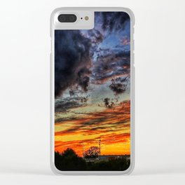 Last Sunset Of Summer Clear iPhone Case