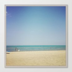 Beach Summer Warm Water Color Photography Canvas Print