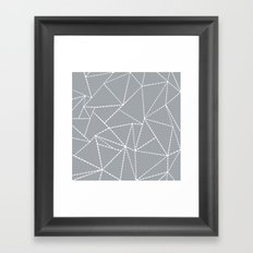 Abstract Dotted Lines Grey Framed Art Print