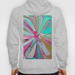 234 - Abstract flower design Hoody