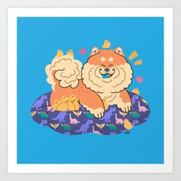 Fluffy Company Art Print