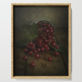 Still life with red currants Serving Tray