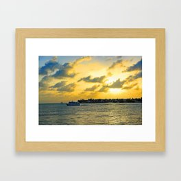 See you at Sunset! Framed Art Print