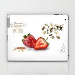 Strawberry and Pollinators Laptop & iPad Skin