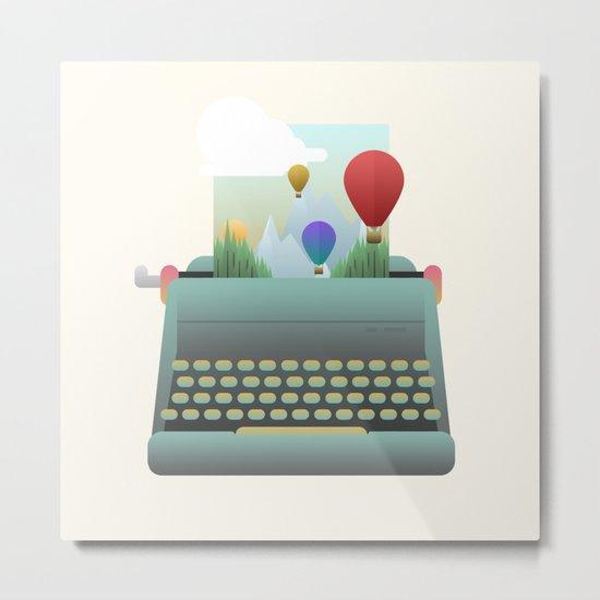 Write your story Metal Print