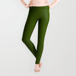 Jungle Green Solid Color Collection Leggings
