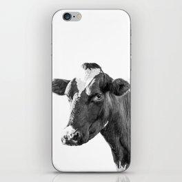 Cow Photography Animal Art | Minimalism black and white | black-and-white | Peek-a-boo iPhone Skin