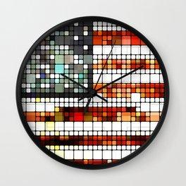 Retro Abstract American Flag Wall Clock