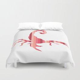 Fiery Striped Scorpion Duvet Cover
