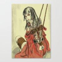 bondage Canvas Prints featuring Bondage by Zhjake