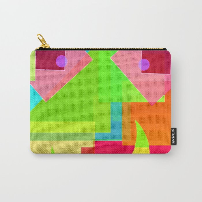 Abstract Geometry Face Carry-All Pouch