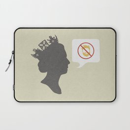 Facial hair will never go down with the queen/Nice, nice, very nice mix Laptop Sleeve