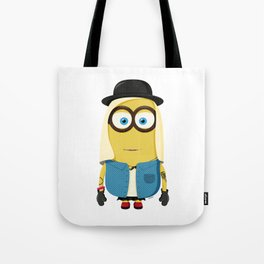 Hipster Girl Minion Tote Bag