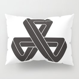 mobius triple strip - black Pillow Sham