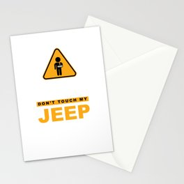 To Avoid Injury Don`t Touch My Big Toy Off-roading Vehicle Stationery Cards