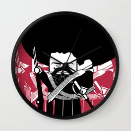 Emiliano Zapata by XospaTronik Wall Clock