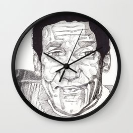 Bill Cosby in a Toulouse Lautrec Sweater by Aaron Bir Wall Clock