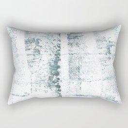 Gray blue smoke wash drawing painting Rectangular Pillow